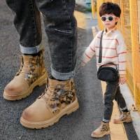 【活动价:96】儿童马丁靴男童 2019秋冬新款潮男童棉靴加绒加厚童鞋真皮短靴宝宝靴子