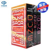 英文原版 沙丘三部曲套装 Frank Herbert Dune Saga 3 Book Boxed Set 同名电影科幻