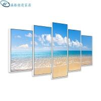 沙发背景墙装饰画地中海风格壁画墙画客厅挂画现代简约时尚大气