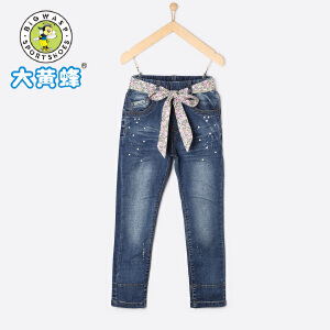 大黄蜂童装 女童牛仔裤 儿童裤子2018新款长裤中大童韩版潮流