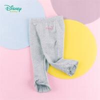迪士尼Disney童装 女童纯棉打底裤喇叭花边裤脚年春季新品迪斯尼宝宝儿童修身裤子