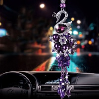 创意汽车挂件水晶小车车内车上吊饰品悬挂式挂饰摆件男女