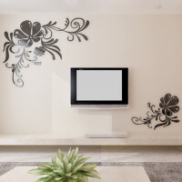 亚克力3d立体墙贴家装饰品客厅卧室电视背景墙壁纸贴画
