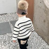 №【2019新款】冬天小朋友穿的宝宝毛衣冬装半高领套头加绒婴儿上衣男童加厚针织衫儿童衣小