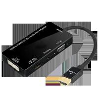 HDMI转VGA/HDMI/dvi转换器4K高清带音频供电接口笔记本电脑台式机顶盒看电视投影仪显示器 0.5m及以下