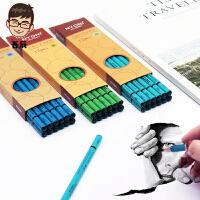 正品NYONI尼奥尼炭笔美术素描速写软中硬碳笔专业绘画铅笔不断芯