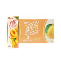 【9月产】蒙牛真果粒黄桃果粒牛奶饮品 250g*12盒*1箱