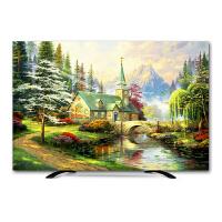 电视机罩罩壁挂液晶55英寸32盖布65曲面50布艺油画欧式电视套