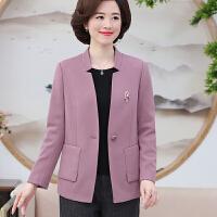 中老年女装秋装外套40-50岁短款妈妈装时尚长袖上衣妇女气质外套