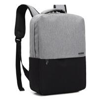轻便韩版双肩包简约男士商务电脑包大学生休闲书包潮男女旅行背包
