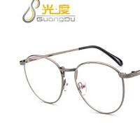 复古韩版文艺眼镜框2978 百搭金属圆框潮眼镜架 开球可配近视眼镜