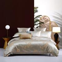 水星出品 百丽丝家纺 轻奢欧式大提花四件套床上用品 影雅罗兰