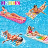 水上充气床厚气垫躺椅沙发浮排 浮排 浮床 游泳充气漂流