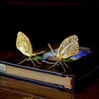 仿真蝴蝶铜摆件装饰品创意客厅书房工艺品小摆件样板房摆设