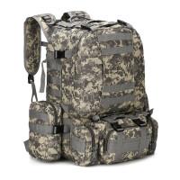 军迷户外大容量双肩包背包多功能4合1战术组合包迷彩登山包旅行包