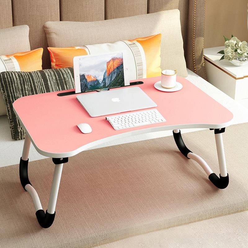 幸阁 桌面卡槽折叠笔记本电脑桌 简易床上用宿舍懒人桌子床上实木书桌支付礼品卡 加大加厚 加粗加高