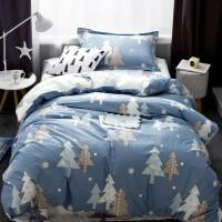 ???全棉学生宿舍单人床上三件套纯棉0.9m上下铺寝室被套床单1.2米床