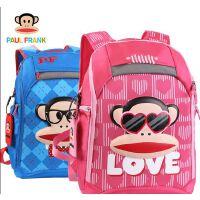 大嘴猴儿童书包小学生男女可爱蓝色枚红色双肩背包PKY2085