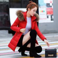 秋冬季棉衣女中长款韩版修身女学生时尚大毛女装外套