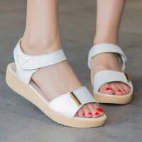 凉鞋女鞋子女夏季新款时尚厚底平底鞋女士平跟平底时尚舒适沙滩鞋0316