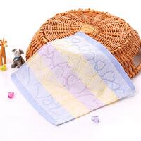 割绒方巾柔软吸水小毛巾婴幼儿童幼儿园口水巾带挂绳方巾 25x25cm