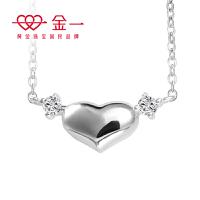 金一珠宝银项链女款锆石怦然心动套链韩版时尚锁骨链S925银饰送女友闺蜜