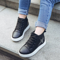 女童鞋子2018新款秋冬款儿童运动鞋高帮二棉鞋加绒大童休闲冬季鞋