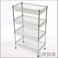 不锈钢厨房置物架收纳架水果蔬菜架子多功能菜架层架金属放菜篮子 中管长60*宽35*高150 5层