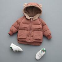 男童宝宝棉衣外套潮1儿童3岁冬装小童女洋气加厚羽绒棉袄