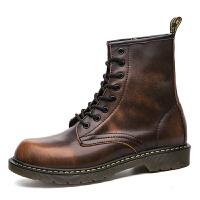 男式 英伦风复古经典款男靴马丁靴 男士高帮鞋短靴潮皮靴(不加绒版)