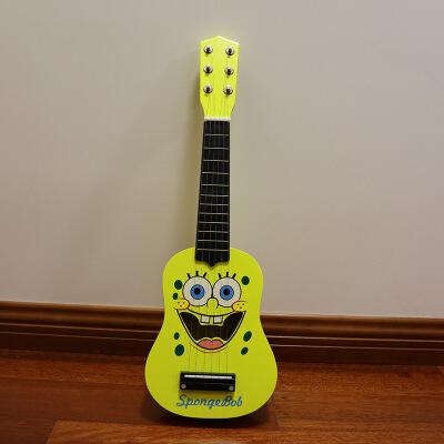 ?21寸卡通尤克里里初学者儿童六弦迷你乐器木质玩具可弹奏小吉他女