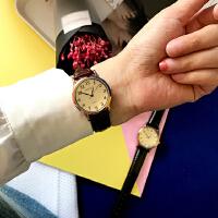 韩风清新森女文艺复古经典百搭简约圆盘学生皮带情侣石英手表