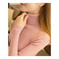 高领毛衣女长袖内搭打底衫2018秋冬新款短款百搭修身紧身针织衫