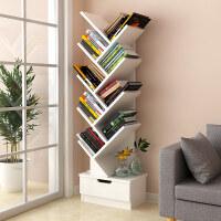 多层客厅创意置物架树形省空间桌面上书架书架简易学生用书柜落地 3ud
