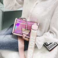 宽肩带小包包女2018新款潮 韩版个性百搭单肩包时尚复古风斜跨包