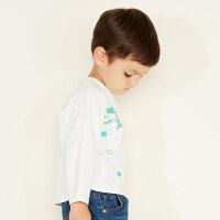 【满1000减750】美特斯邦威旗下moomoo童装男童长袖T恤新款春秋装洋气宝宝小童上衣棉-CC
