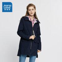 [每满150减50]真维斯女装 冬装 聚酯纤维平纹布连帽外套潮