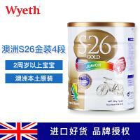 澳洲S26金装4段奶粉Wyeth惠氏新生儿婴儿配方奶粉四段  900g/罐
