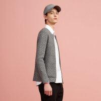 【满1000减750】美特斯邦威针织开衫男秋装新款棒球领式毛织开衫外套潮流时尚