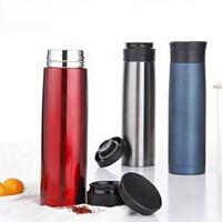420ML全304不锈钢车载杯 便携式双层保温杯 高端保温瓶 银色
