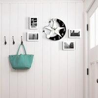 创意潮流北欧个性挂钟客厅时尚现代简约电子时钟静音卧室钟表装饰 12英寸(直径30.5厘米)
