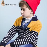 【3件3折:140.7元】暇步士童装冬季新款男童针织外套时尚拼色开衫线衣儿童针织外套