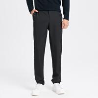 【全场2件2.5折,到手价:134.8】MECITY男装冬季新款侧缝拼接修身西裤商务休闲裤
