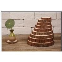 儿童装饰品油画厚木托盘小木桩片树原木树轮小木墩木头桩画画年轮
