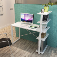 ?电脑桌简约台式家用小书桌书架组合简易办公写字台学生儿童学习桌