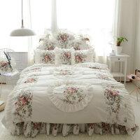 ???床上四件套全棉纯棉碎花1.5m床裙被套被子被单ins网红清新三件套