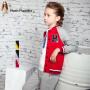 【7.21-7.22品牌促销日 每满100-50】暇步士童装男童休闲套装春新款运动班服儿童外套裤子两件套