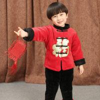 男童女童宝宝拜年服唐装套装2018新款冬装儿童夹棉加厚过年服童装