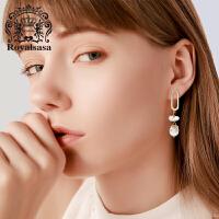 皇家莎莎925银针耳钉女士优雅贝珠耳环个性耳坠耳饰品生日礼物