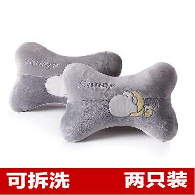 汽车头枕靠枕车用一对护颈枕车载卡通抱枕腰靠垫套装可爱车内用品